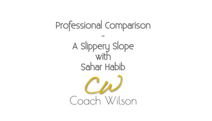 Professional Comparison – A Slippery Slope